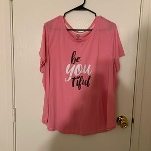 Be YOU tiful pink top